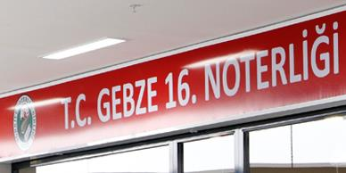 GEBZE 16. NOTERİ GOSB'DA FAALİYETİNE BAŞLADI