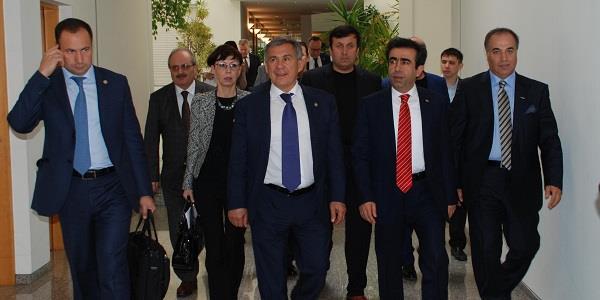 TATARİSTAN CUMHURİYETİ CUMHURBAŞKANI'NIN GOSB ZİYARETİ