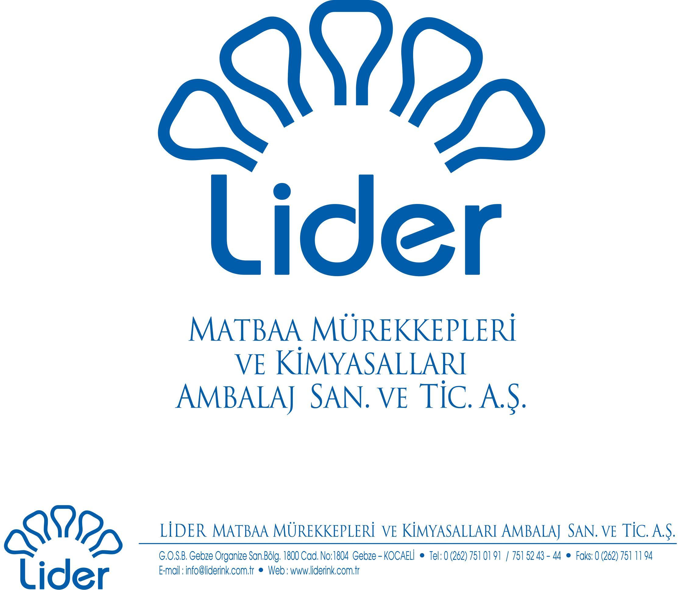 Lider Matbaa Mürekkepleri ve Kimyasalları Amb. San. ve Tic. A.Ş.