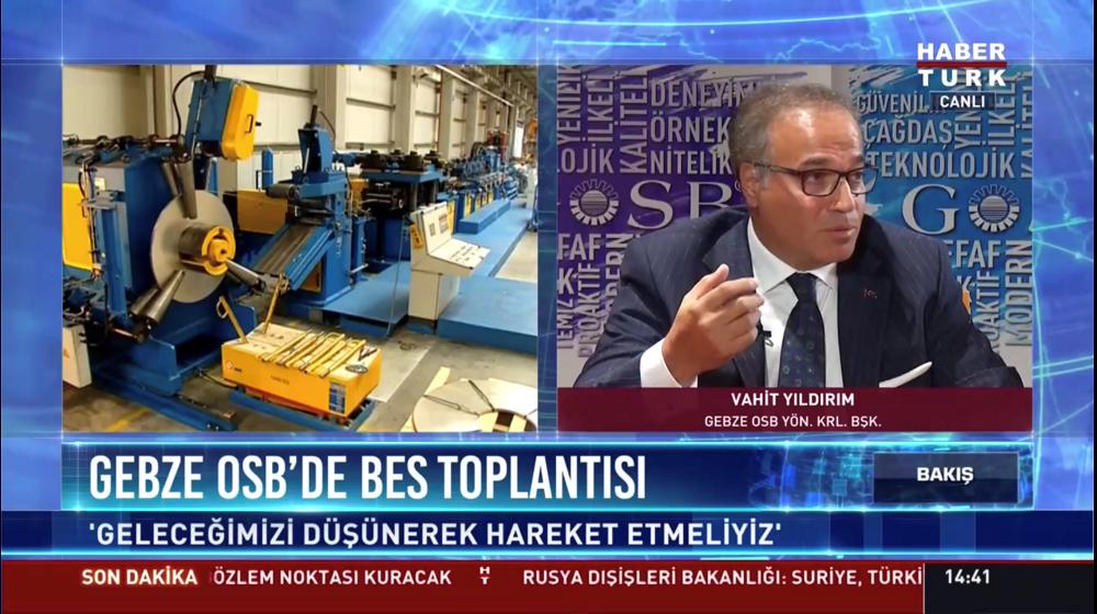 HABERTÜRK TV CANLI YAYINI GOSB'DAN GERÇEKLEŞTİRİLDİ